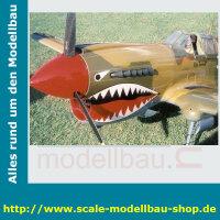 Bauplan Curtiss P40D Kittyhawk Spannweite 2388mm
