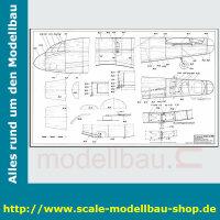 Bauplan Junkers JU-290 Spannweite ca. 2950 mm