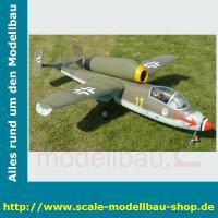 Bauplan Heinkel HE-162 Spannweite 1422 mm