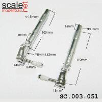 ScaleMod gefederte Fahrwerksbeine 2-Bein 110 mm