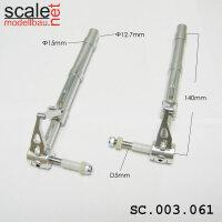 ScaleMod gefederte Fahrwerksbeine 2-Bein 12,7mm / 5mm Achse Länge 140 mm
