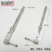 ScaleMod gefederte Fahrwerksbeine 2-Bein 12,7mm / 5mm Achse Länge 190 mm