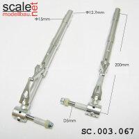 ScaleMod gefederte Fahrwerksbeine 2-Bein 12,7mm / 5mm Ache Länge 200 mm