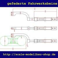 ScaleMod gefederte Fahrwerksbeine 2-Bein 190mm (für...