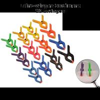 Leimklemmen/Leimzwingen Kunststoff farblich sortiert...