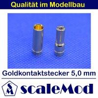 scaleMod Goldkontaktstecker 5,0 mm Stecker/Buchse (5 Paar)