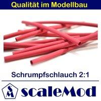 scaleMod Schrumpfschlauch 2:1  4,0 mm rot 5 m