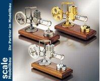 Stirlingmotor Gold montiert