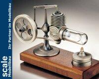 Stirlingmotor Altsilber montiert
