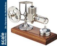 Stirlingmotor Alu montiert