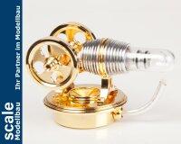 Stirlingmotor Twin Gold montiert