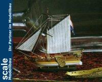Flaschenschiff Goldene Yacht 1:300