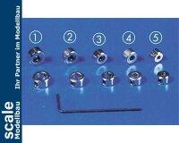 Krick Stellringe 6 mm Innensechskant 5x #50497