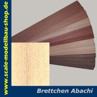Furnier ABACHI. 500x100x1.5 mm