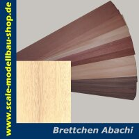 Furnier ABACHI 1000x100x1.0 mm