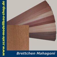 Modellbau Brettchen MAHAGONI 500x100x1.5 mm