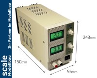 QJ2002C Labornetzgerät regelbar bis 20V/2A