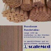Scale Rundstäbe Nussbaum  3,0 mm Länge 1000 mm...