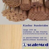 Scale Rundstäbe Kiefer  4,0 mm Länge 1000 mm...