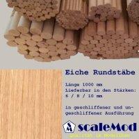 Scale Rundstäbe Eiche 8,0 mm Länge 1000 mm  VE...