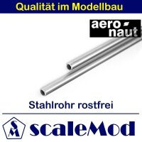 Aeronaut (7739/83) Stahlrohr rostfrei 1000 mm / 3,0 mm