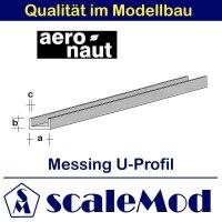 Aeronaut (7712/25) Messing U-Profil 330mm / 2,5x1,5x0,40...