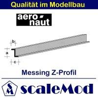 Aeronaut (7742/84) Messing Z-Profil 1000 mm /...