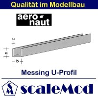 Aeronaut (7712/06) Messing U-Profile 330 mm /...