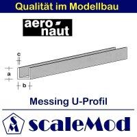 Aeronaut (7712/04) Messing U-Profile 330 mm /...