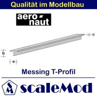 Aeronaut (7712/74) Messing T-Profile 330mm / 2,5x1,0x0,40...