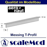 Aeronaut (7712/54) Messing T-Profile 330mm / 2,0x2,0x0,40...
