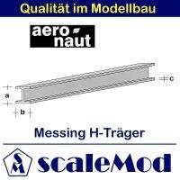 Aeronaut (7713/10) Messing H-Profile 330mm / 5,0x5,0x0,60...