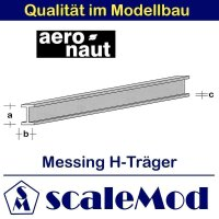 Aeronaut (7713/27) Messing H-Profile 330mm / 3,0x1,5x0,40...