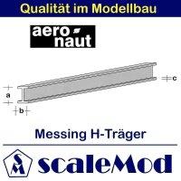 Aeronaut (7713/24) Messing H-Profile 330mm / 2,5x1,0x0,40...