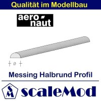 Aeronaut (7714/21) Messing Halbrundstab  330mm / 1,5 mm...
