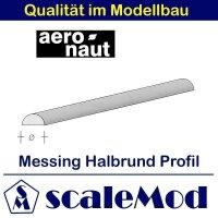 Aeronaut (7742/54) Messing Halbrundstab  1000mm / 3,0 mm...