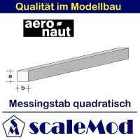Aeronaut (7711/03) Messingstab quadrat.  330mm / 1,5x1,5...