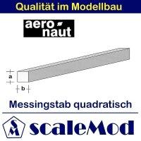 Aeronaut (7711/02) Messingstab quadrat.  330mm / 1,0x1,0...