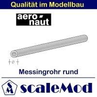 Aeronaut (7714/01) Messingrohr rund 330 mm  0,8/0,4 mm