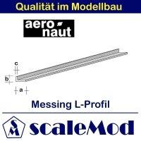 Aeronaut (7711/74) Messing L-Profil  330mm / 2,5x1,0x0,40...