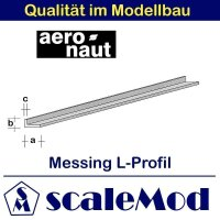 Aeronaut (7711/58) Messing L-Profil  330 mm /...