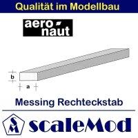 Aeronaut (7711/25) Messing 4-kant Stab 330mm / 2,5x1,5 mm...
