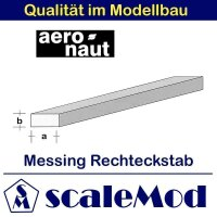 Aeronaut (7711/24) Messing 4-kant Stab 330mm / 2,5x1,0 mm...