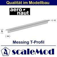 Aeronaut (7713/73) Messingrohr rechteck. 330mm /2,0x1,0...