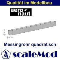 Aeronaut (7713/54) Messingrohr Quadrat. 330mm / 2,0x2,0...