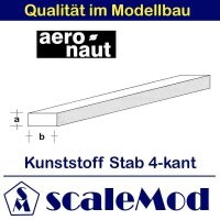 Aeronaut (7722/25) Kunststoff (ASA) rechteck Stab  VE...