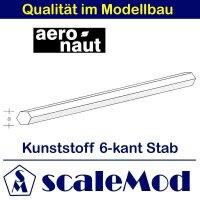 Aeronaut (7721/63) Kunststoff (ASA) 6-kant Stab  VE 5 Stk...