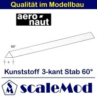 Aeronaut (7721/83) Kunststoff (ASA) 3-kant Stab 60Grad...