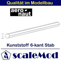 Aeronaut (7721/61) Kunststoff (ASA) 6-kant Stab  VE 5 Stk...