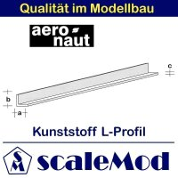 Aeronaut (7723/92) Kunststoff (ASA) L-Profil  VE 5 Stk...